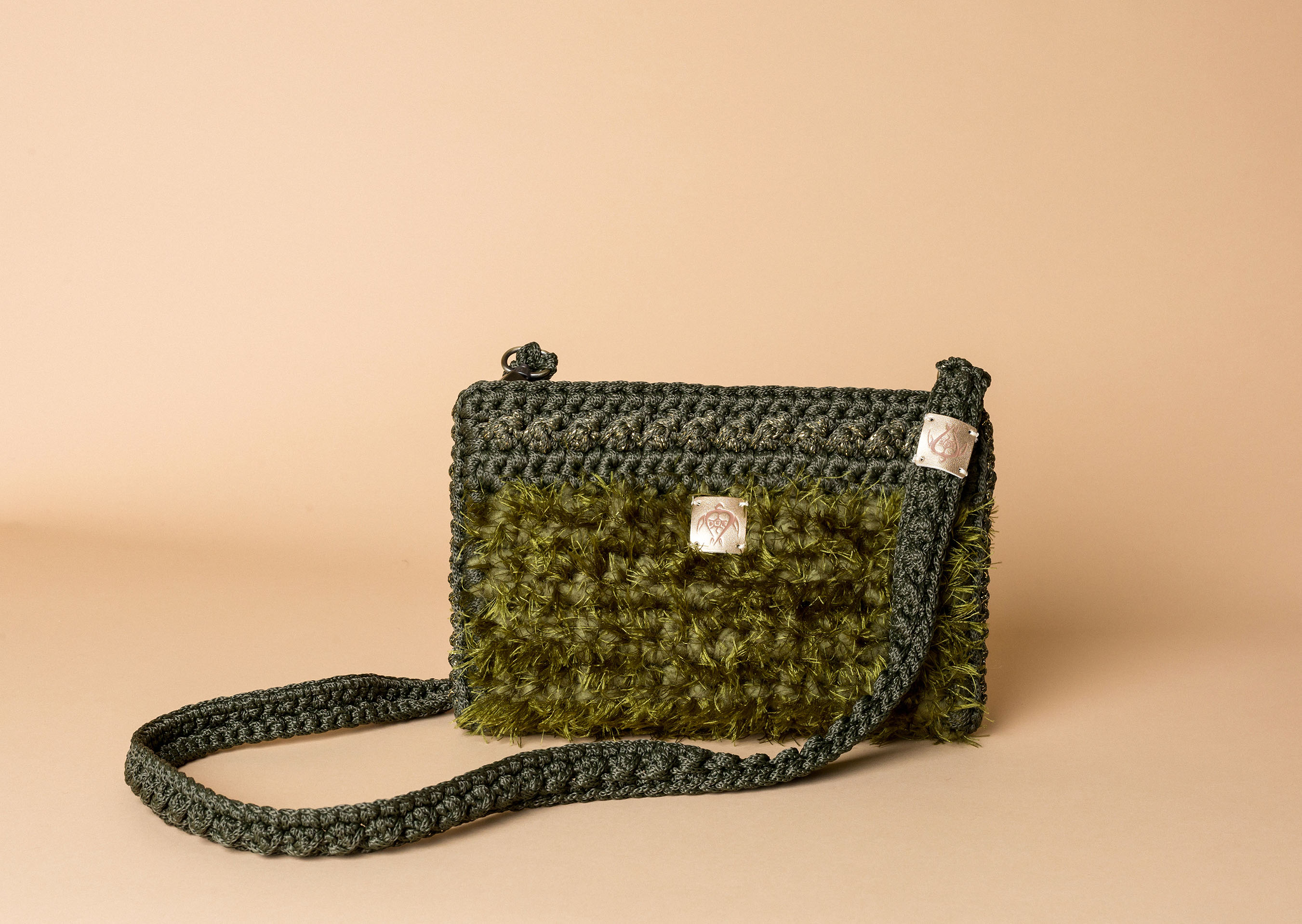 knitted bag petit in khaki