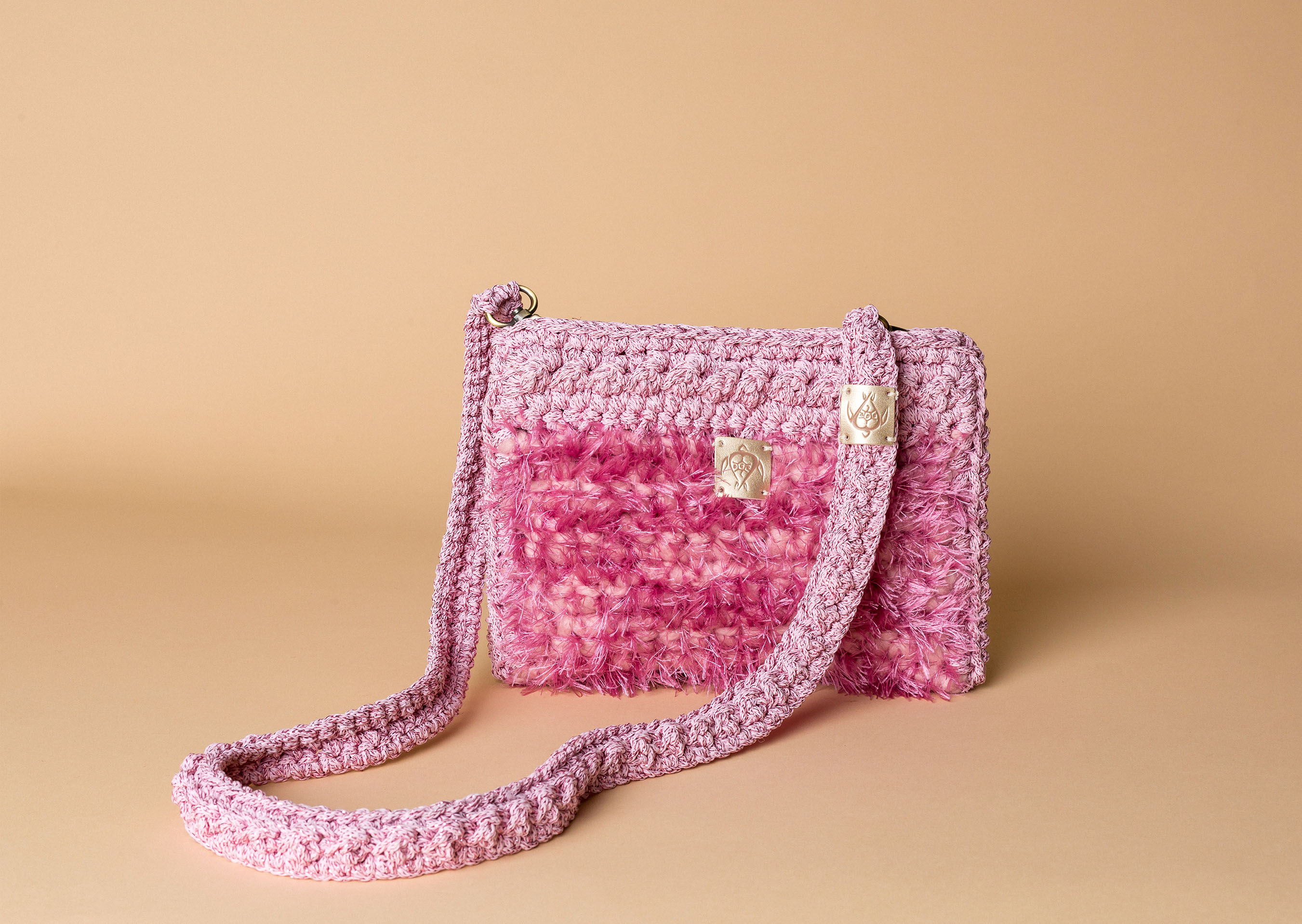 knitted bag petit in pink
