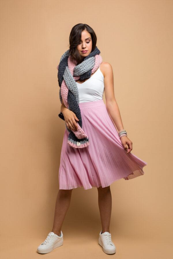 braid scarf multicolor