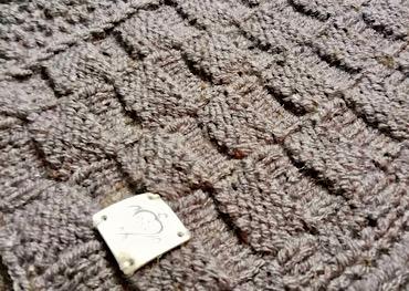 Handmade knitted vest mocca recent