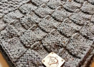Handmade knitted vest light grey