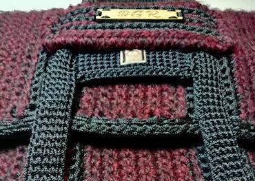 Crochet Bag in bordeaux/black