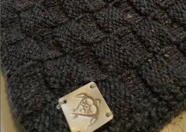 Handmade knitted vest in dark grey